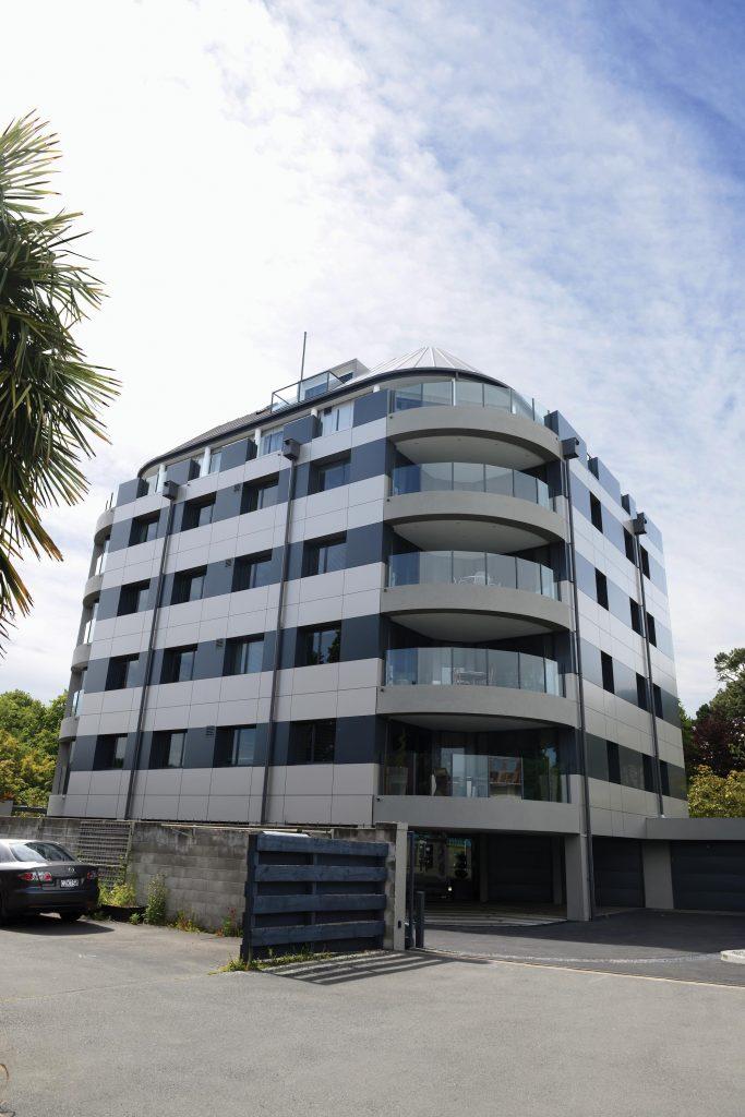 Commercial retail building apartments