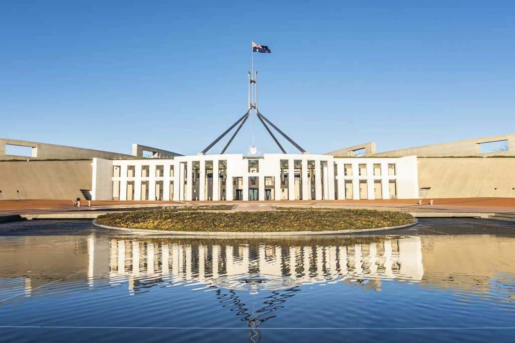 Morning at the Parliament House Canberra