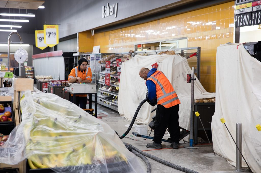 Retail supermarket teretek