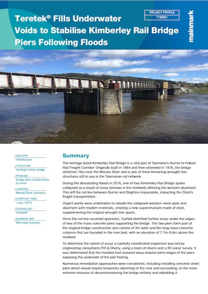 PP-T18E001-Teretek Fills Underwater Voids to Stabilise Kimberley Rail Bridge Piers Following Floods