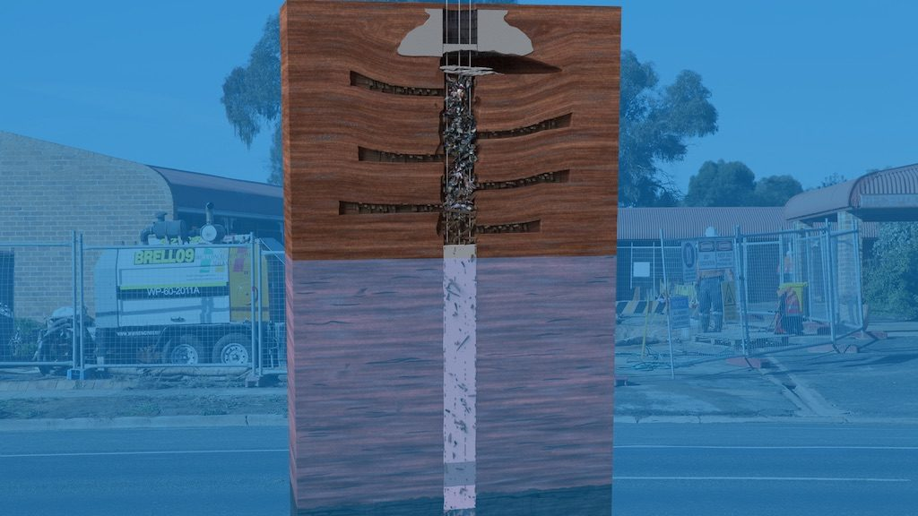 Collapsed Mine Shaft Stabilised with Terefil®