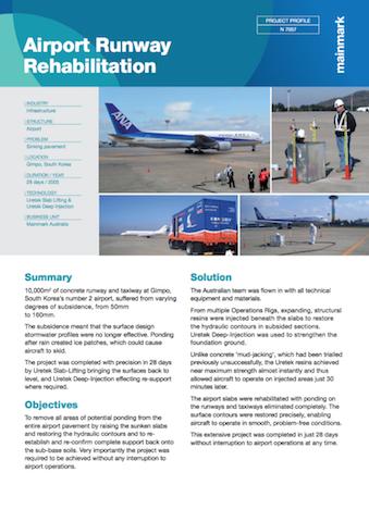 Airport runway Rehabilitation Gimpo Airport