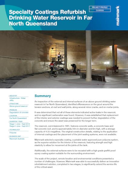 Specialty-Coatings-Refurbish-Drinking-Water-Reservoir-in-Far-North-Queensland