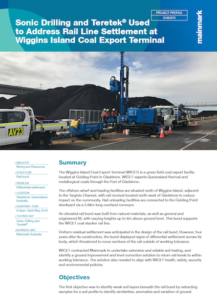 Sonic-Drilling-and-Teretek-Used-to-Address-Rail-Line-Settlement-at-Wiggins-Island-Coal-Export-Terminal