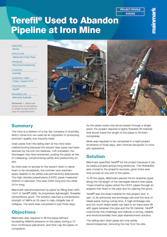Terefil-Used-to-Abandon-Pipeline-at-Iron-Mine