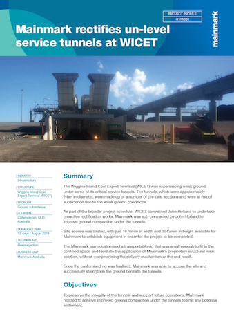 Mainmark-rectifies-un-level-service-tunnels-at-WICET