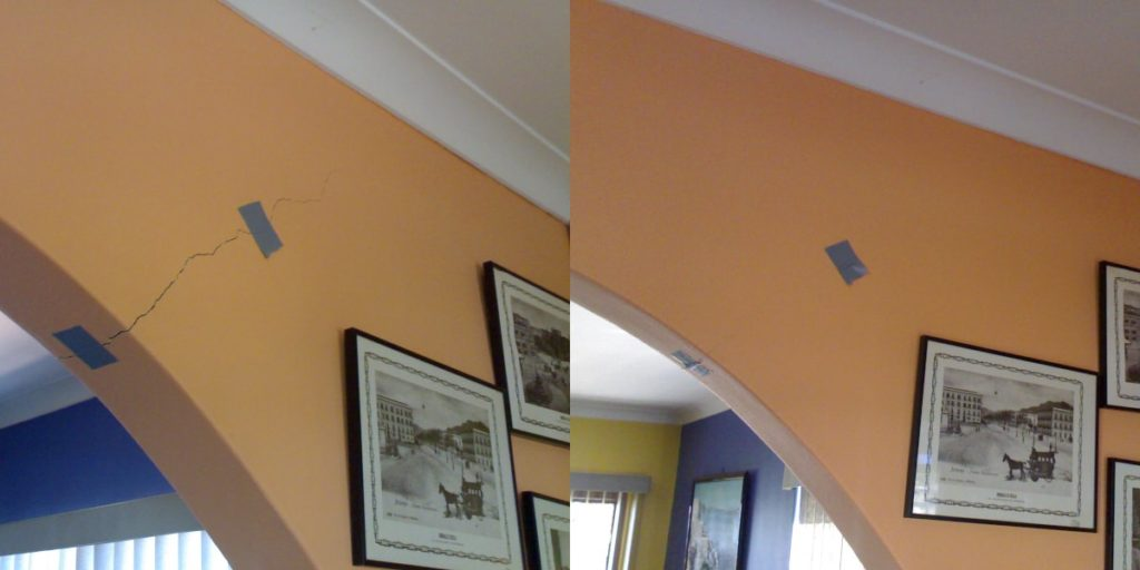 Cracked Walls BEFORE AND AFTER 1